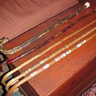 Antique Walking Stick Cane Collection (5)