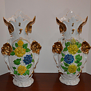 Massive Pair Old Paris-Vases 1800s