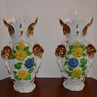 Massive Pair Old Paris-Vases 1800s