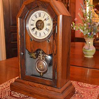 "Seth Thomas ""Nashville"" Octagonal Top Shelf Clock 1875"