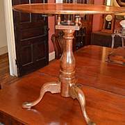 American Elm & Mahogany Tilt Tea Table C.1800
