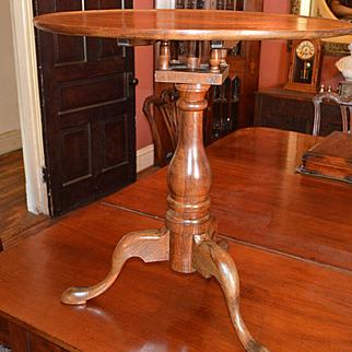 American Elm & Mahogany Tilt Tea Table C.1800