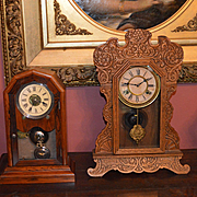 "Shelf Clock Waterbury ""Gingerbread"" Clock 1888"