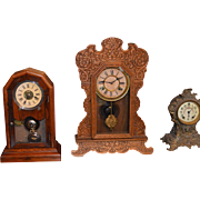 "Shelf Clock Waterbury ""Gingerbread"" Clock 1888"