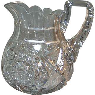 Libbey Cut Glass ABCG Water Jug Corinthian Pattern