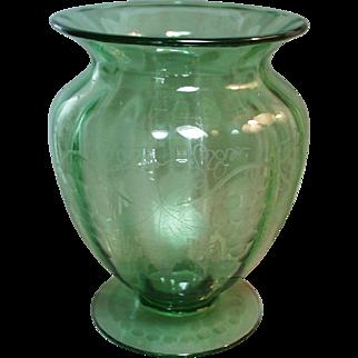 Pairpoint Style Vintage Pattern Large Vase