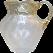 New England Glass Works Victorian Pomona Art Glass Creamer