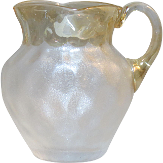 New England Glass Works Victorian Pomona Art Glass Creamer