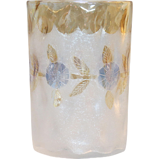 New England Glass Works Victorian Pomona Tumbler