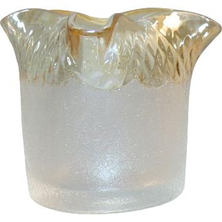 New England Glass Works Victorian Pomona Toothpick Holder