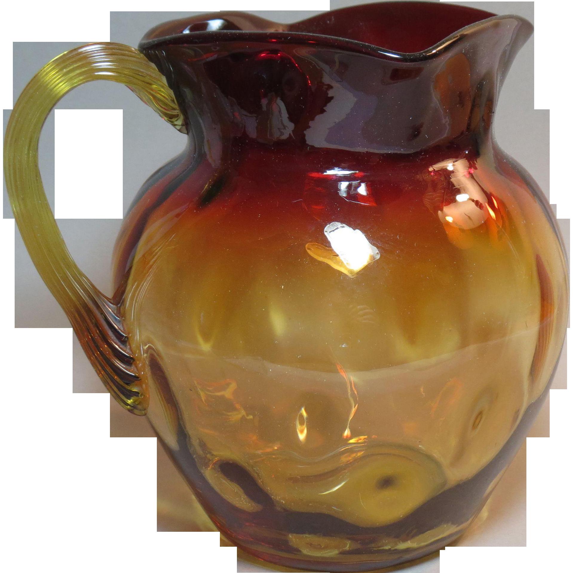 pitcher amberina water era victorian