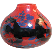 Orient & Flume Red Paperweight Vase with Lizard - Red Tag Sale Item