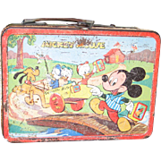 1954 Mickey u0026 Donald Lunch Box  sc 1 st  Ruby Lane & Vintage 1960u0027S Mickey Mouse Radio and Alarm Clock from big-red on ... Aboutintivar.Com
