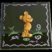 Mickey Mouse Ceramic Tile Circa 1943