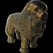 Cast Iron 1920's Lion Still Bank