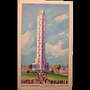 Post Card Havoline   oil Chicago's Worlds Fair 1934