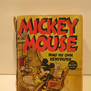 Mickey Mouse Little Big Book 1937 Mickey Runs a Newspaper