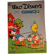 Dell Comic- Walt Disney's Comics- Donald Duck V. 11 #1 1950s