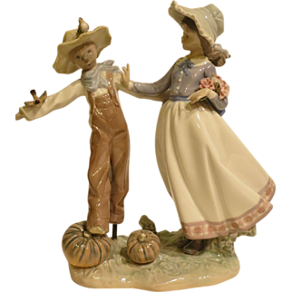 Lladro 5385 Scarecrow and the Lady