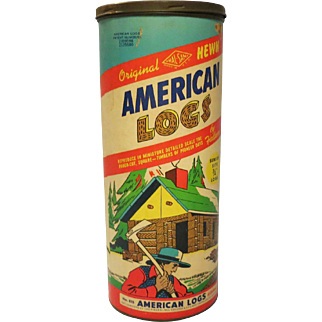 Vintage American Logs No. 815 set by Halsam 1950's