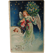 Christmas Angel vintage postcard