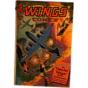 "Wings Comics-Captain Wings ""Taps for Tokyo"" #64 1945"