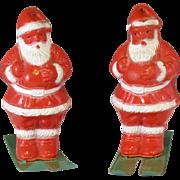 Vintage Santa Claus on skis