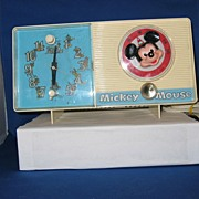 Vintage 1960'S Mickey Mouse Radio and Alarm Clock