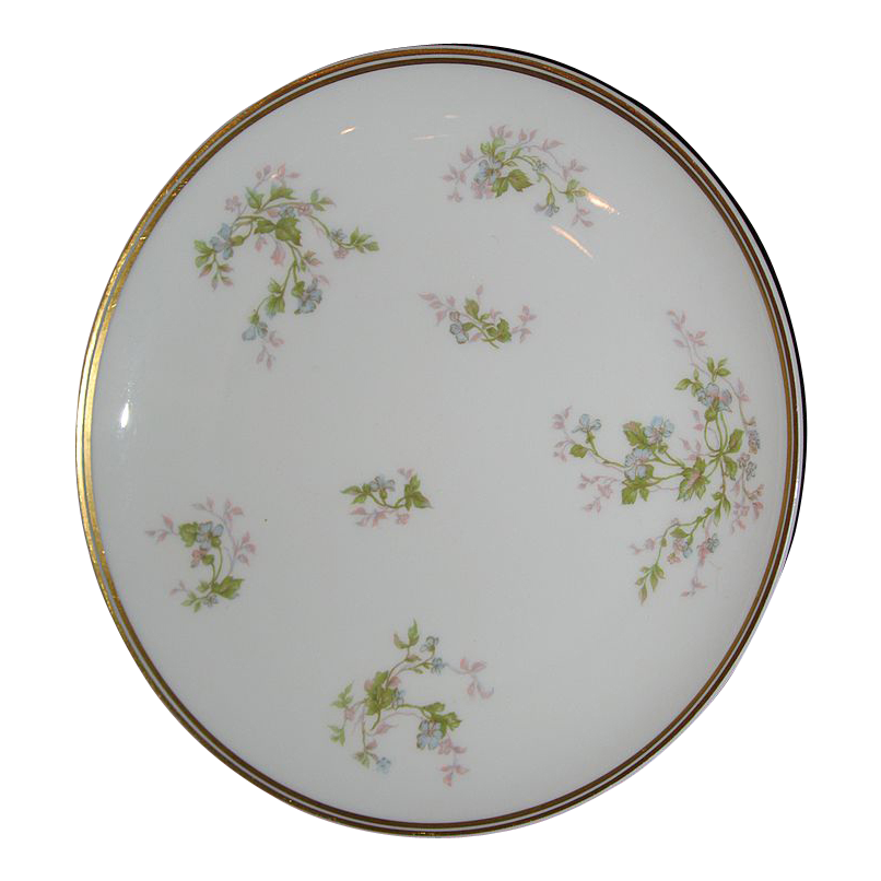 Haviland Limoges cake plate with violets.