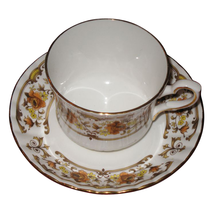 Royal Stafford bone china cup and saucer set Clovelly pattern