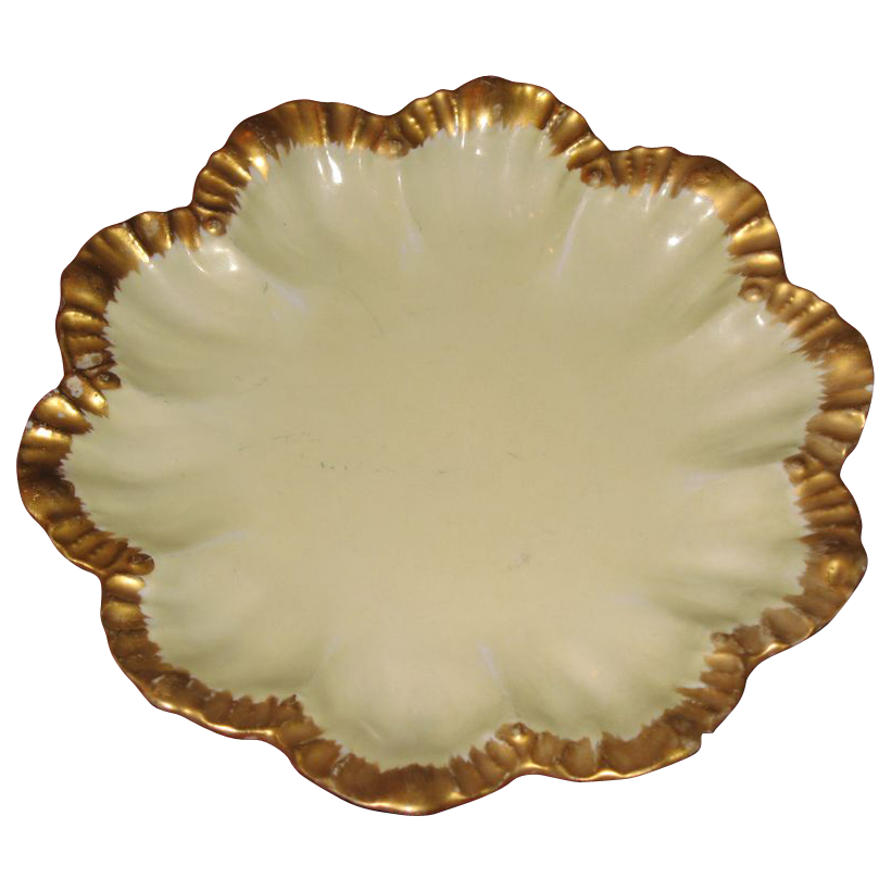 Limoge Depose ruffle edged dish