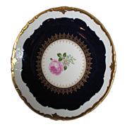 REICHENBACH Salad plate / Cobalt blue and gold