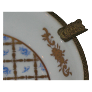 Gorgeous Limoges ashtray  Brass and gilt gold