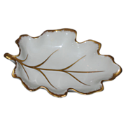 Royal Limoge Miniature dish- Leaf shape