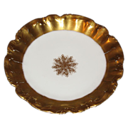 L S& S Limoges plate Sunburst  of gold