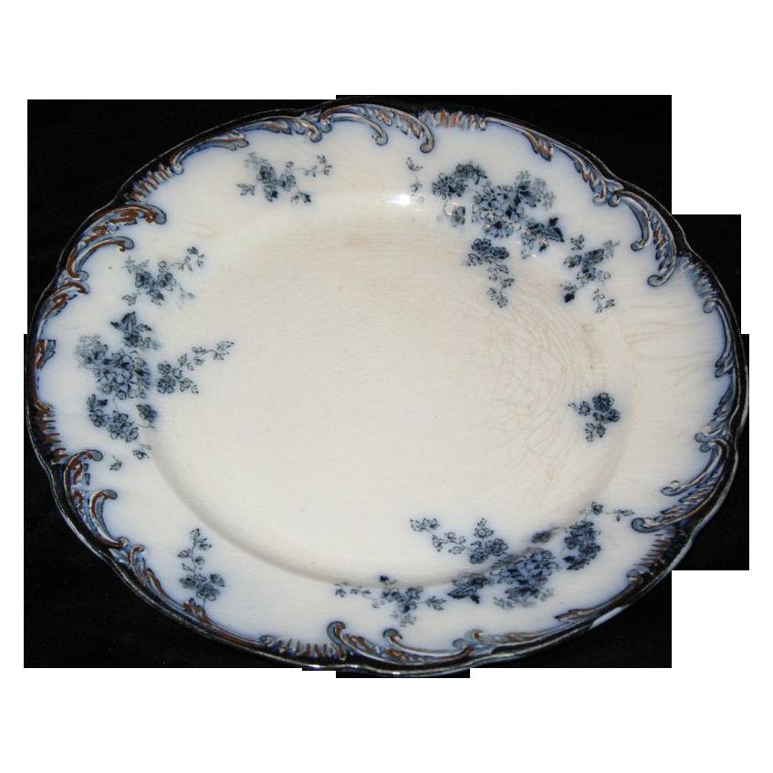 Flow Blue Ridgeway plate  England