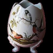 Limoges  porcelain egg on legs