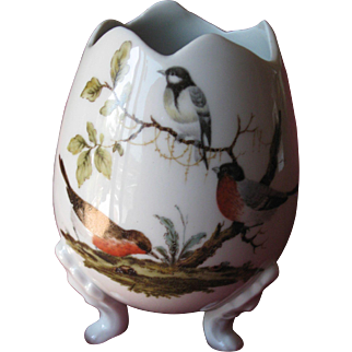 Limoges  porcelain egg on legs