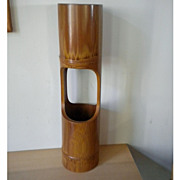 Large two-deck ikebana bamboo-like vase - Red Tag Sale Item