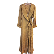 Vintage Victoria's Secret full length gold paisley dressing gown and champagne negligee - size L