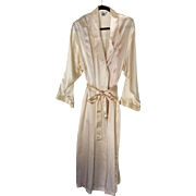 Winter Silks full length cream colored robe sz L & Jones NY pink negligee sz XL