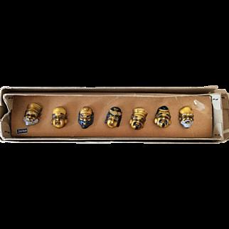Japan Seven Deities of Good Luck buttons - Shichi-Fukujin