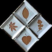 Vintage Trifles Japan tea cake plates with leaves