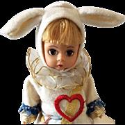 """Madame Alexander 8"""" Court Herald White Rabbit from Alice in Wonderland Series"""