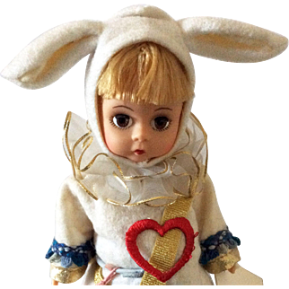 "Madame Alexander 8"" Court Herald White Rabbit from Alice in Wonderland Series"