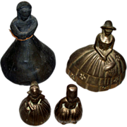"Collection of Vintage/ Antique Figural Dinner Bells ""Southern Lady"" "" Dutch Boy & Girl"" & a ""Primitive woman"""