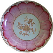 Antique Chinese Qianlong /Youngzheng Famille Rose Lotus Porcelain Charger  circa 1740