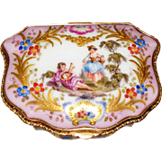 Rare Antique Choisy Le Roy Fluted Porcelain Box  circa 1850