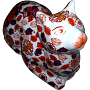 Vintage Japanese Imari Kutani Wide Awake Cat