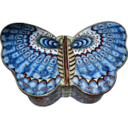 Antique Large Chinese Cloisonne Butterfly Box  circa 1900s